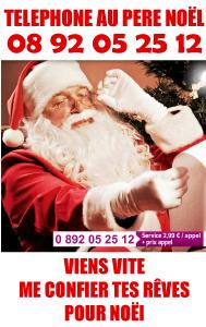Le Téléphone du Père Noël 08 92 05 25 12